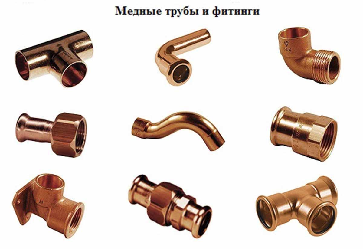 Медные кондиционерные трубы и фитинги